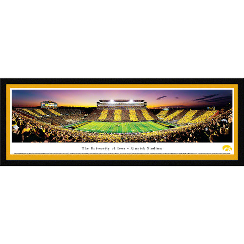 University of Iowa Hawkeyes Kinnick Stadium Sideline Stripe - Select Frame