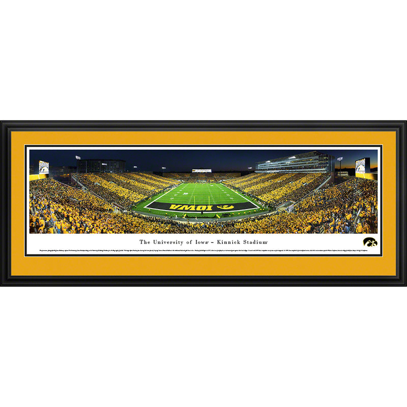 Iowa Hawkeyes Football - End Zone - Stripe - Deluxe Frame