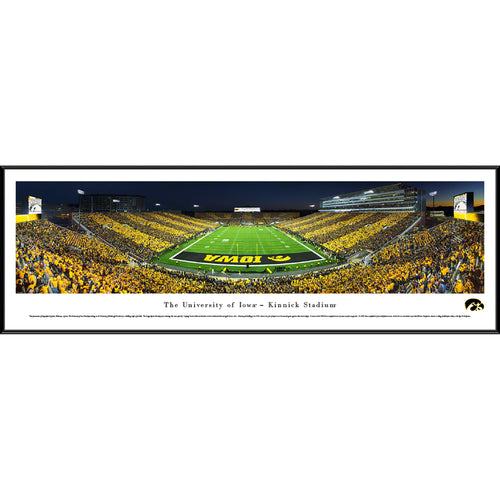 University of Iowa Hawkeyes Kinnick Stadium End Zone Stripe - Standard Frame
