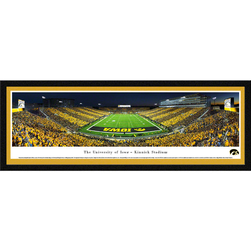 University of Iowa Hawkeyes Kinnick Stadium End Zone Stripe - Select Frame
