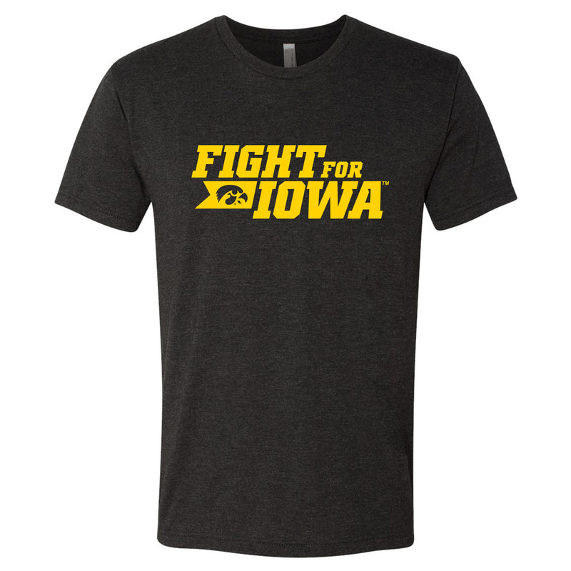 Fight for Iowa Next Level Apparel Tee - Vintage Black