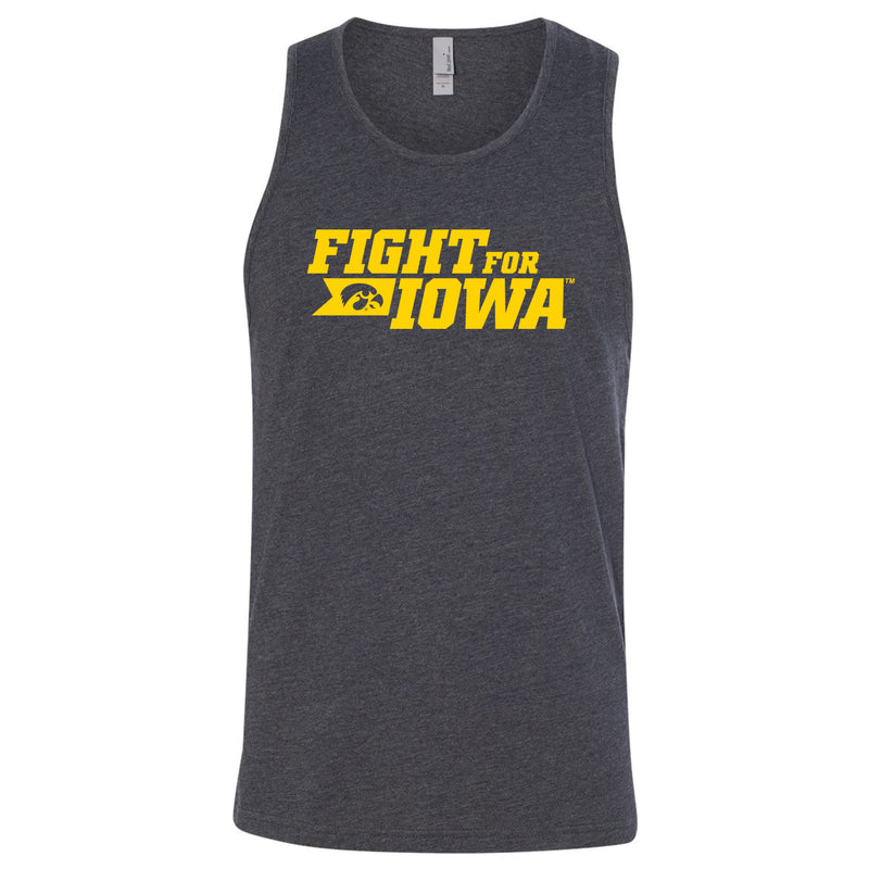 Fight for Iowa Fitted Tank - Charcoal
