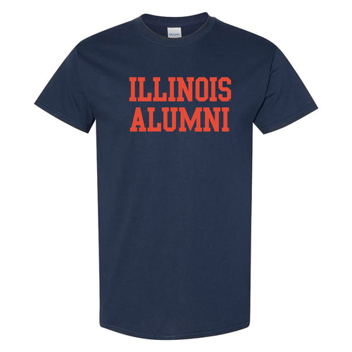 University of Illinois Fighting Illini Basic Block Alumni Cotton T-Shirt - Navy