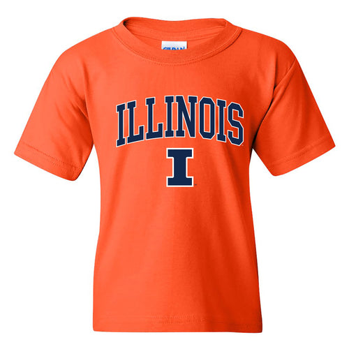 University of Illinois Fighting Illini Arch Logo Cotton Youth T-Shirt - Orange