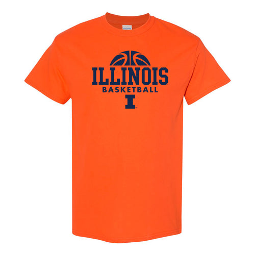 University of Illinois Fighting Illini Basketball Hype Cotton T-Shirt - Orange