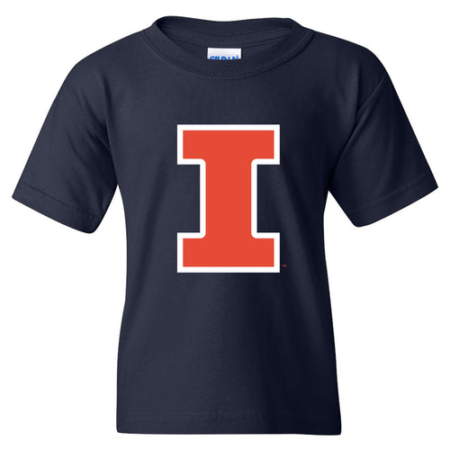 University of Illinois Fighting Illini Primary Logo Cotton Youth T-Shirt - Navy