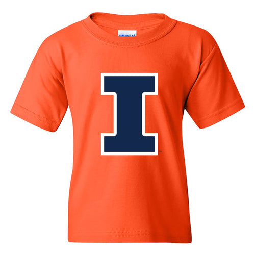 University of Illinois Fighting Illini Primary Logo Cotton Youth T-Shirt - Orange