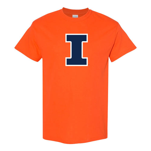 University of Illinois Fighting Illini Primary Logo Cotton T-Shirt - Orange