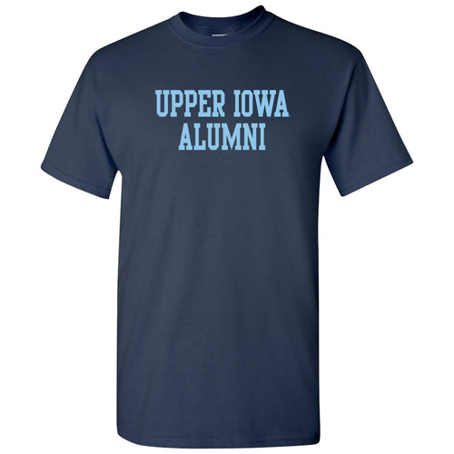 Upper Iowa University Peacocks Alumni Basic Block Cotton Short Sleeve T Shirt - Navy