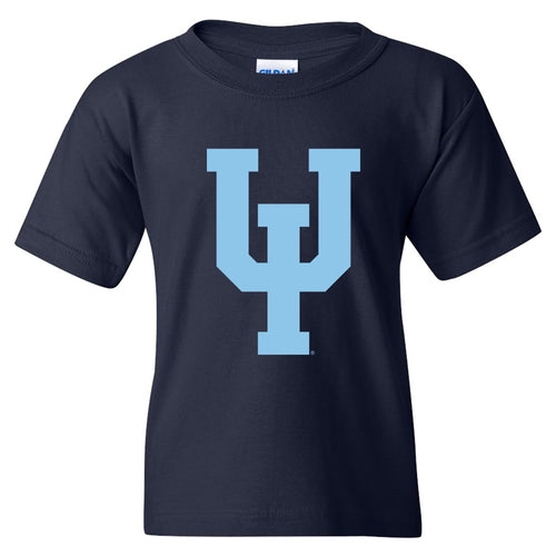 Upper Iowa University Peacocks Basic Cotton Youth Short Sleeve T Shirt - Navy