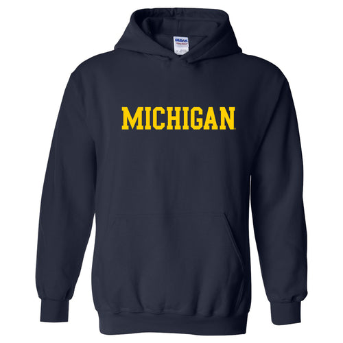 University of Michigan Wolverines Basic Block Hoodie - Navy
