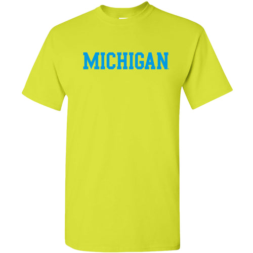 Michigan Basic Block Neon T-Shirt - Safety Green