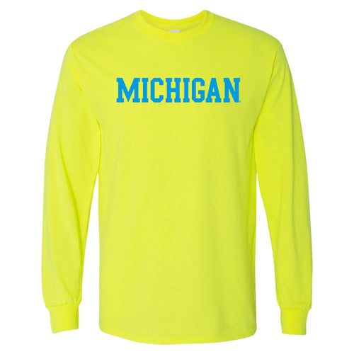Michigan Basic Block Neon Long Sleeve - Safety Green
