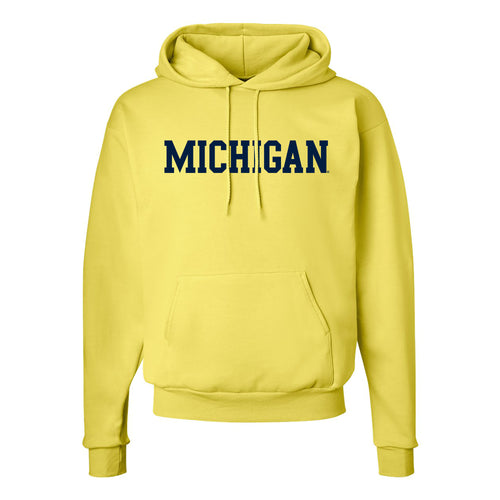 University of Michigan Wolverines Basic Block Hoodie - Yellow