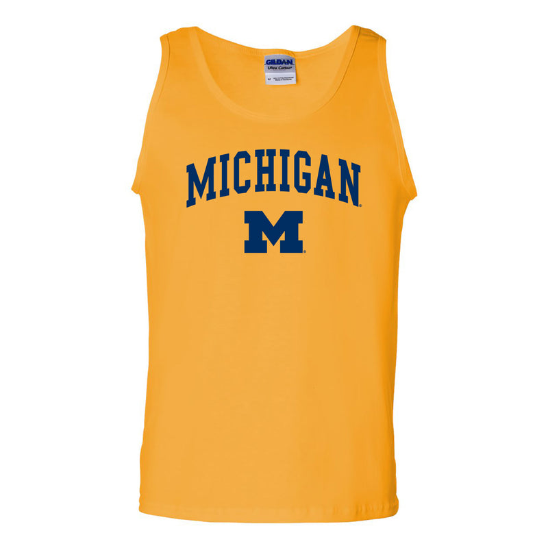 University of Michigan Wolverines Arch Logo Tank Top - Gold