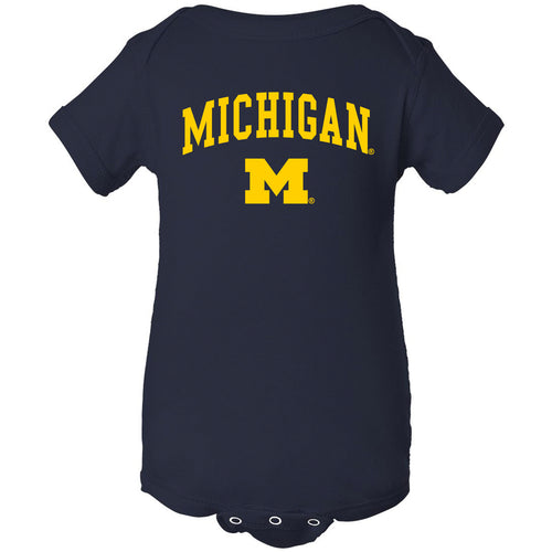 Michigan Wolverines Arch Logo Creeper - Navy