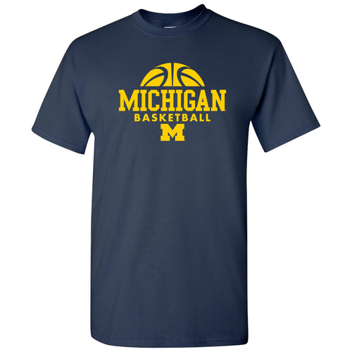 Basketball Hype Michigan Basic Cotton Short Sleeve T-Shirt - Navy