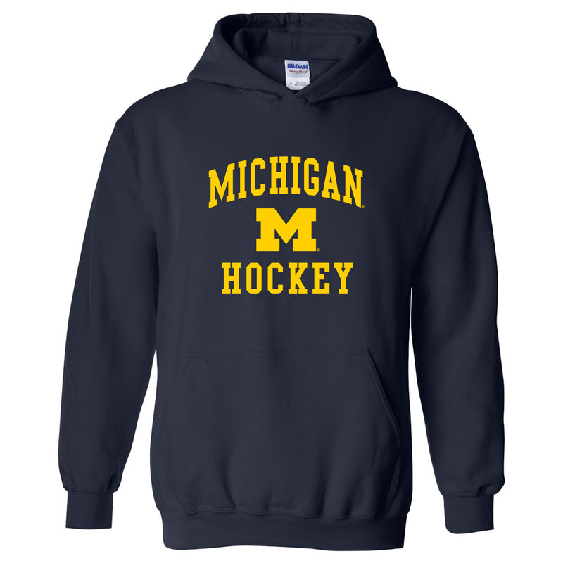 University of Michigan Wolverines Arch Logo Hockey Hoodie - Navy