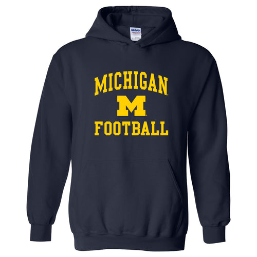 University of Michigan Wolverines Arch Logo Football Hoodie - Navy