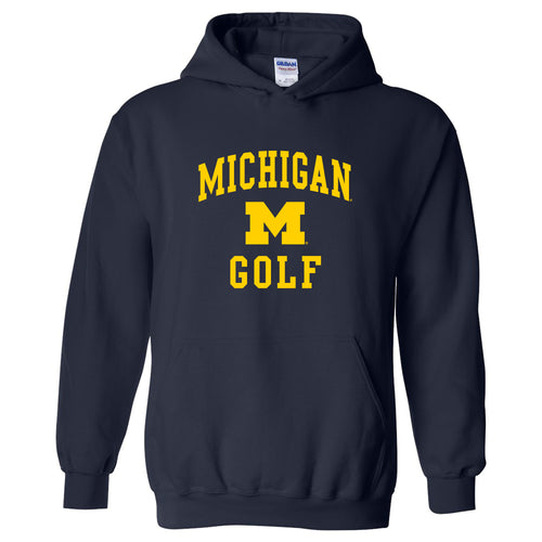 University of Michigan Wolverines Arch Logo Golf Hoodie - Navy