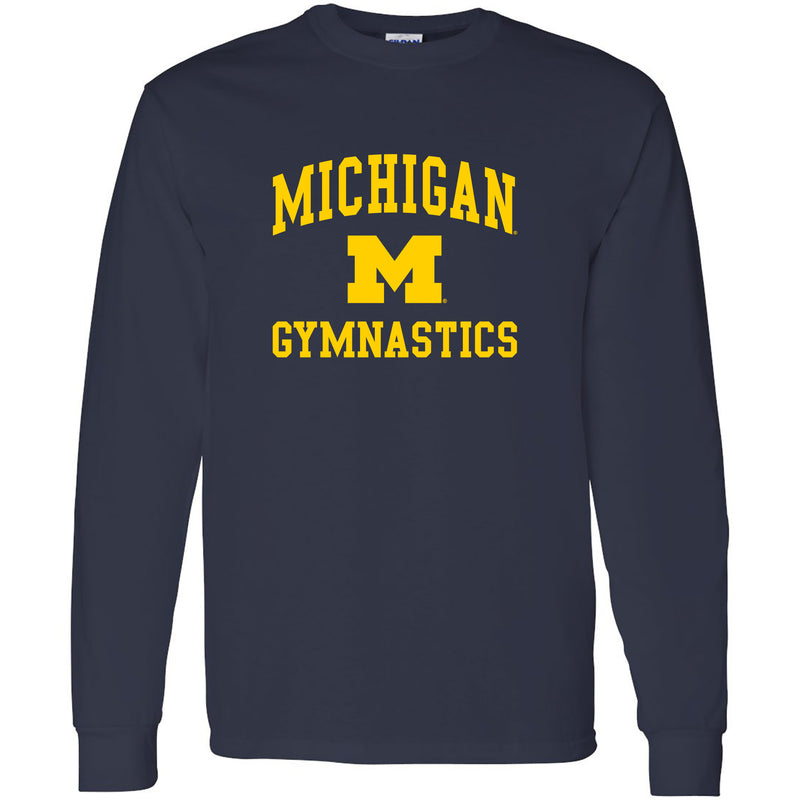 University of Michigan Wolverines Arch Logo Gymnastics Long Sleeve - Navy