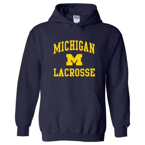 University of Michigan Wolverines Arch Logo Lacrosse Hoodie - Navy
