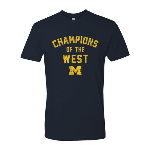 Champions of the West University of Michigan Basic Cotton Short Sleeve T Shirt - Midnight Navy