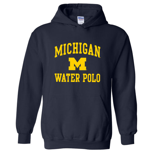 University of Michigan Wolverines Arch Logo Water Polo Hoodie - Navy