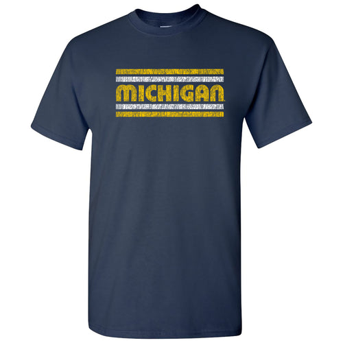 Michigan Wolverines Retro Underline T-Shirt - Navy