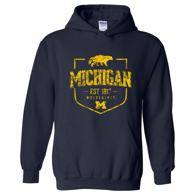 Timber Shield University of Michigan Heavy Blend Hoodie - Navy