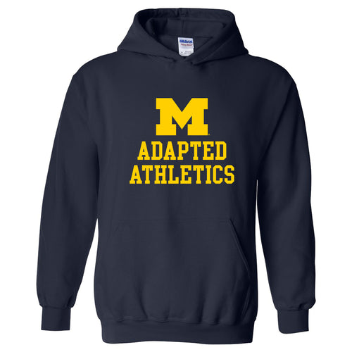 University of Michigan Wolverines Block M Adapted Athletics Hoodie - Navy