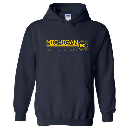 University of Michigan Wolverines Logo Ping Heavy Blend Hoodie - Navy