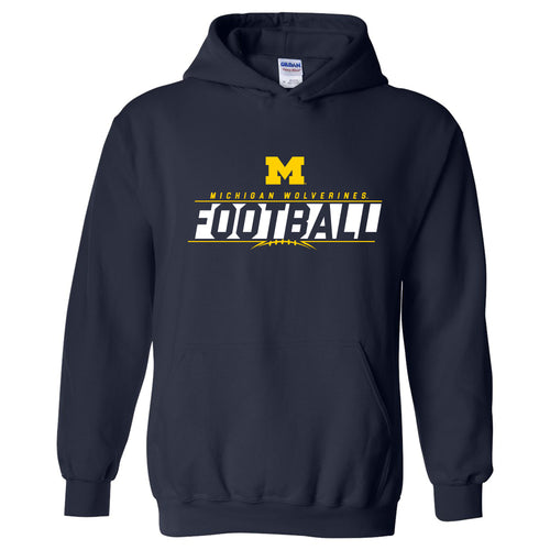 University of Michigan Football Charge Heavy Blend Hoodie - Navy