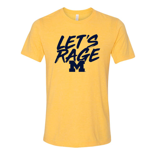 Let's Rage University of Michigan Canvas Triblend Short Sleeve T Shirt - Yellow Gold