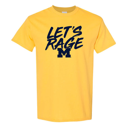Let's Rage University of Michigan Basic Cotton Short Sleeve T Shirt - Maize