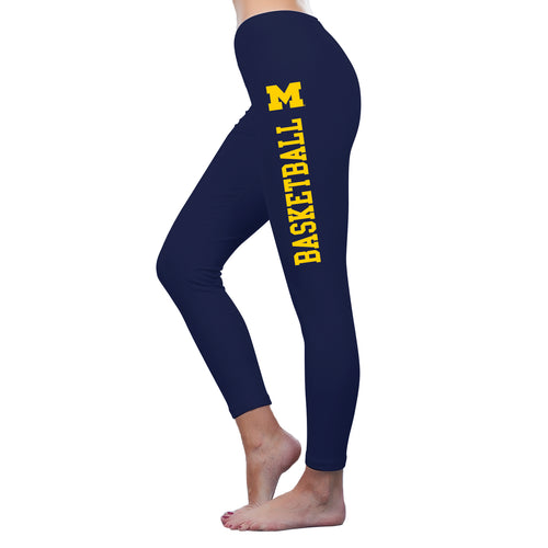 Michigan Basketball American Apparel Spandex Leggings - Navy