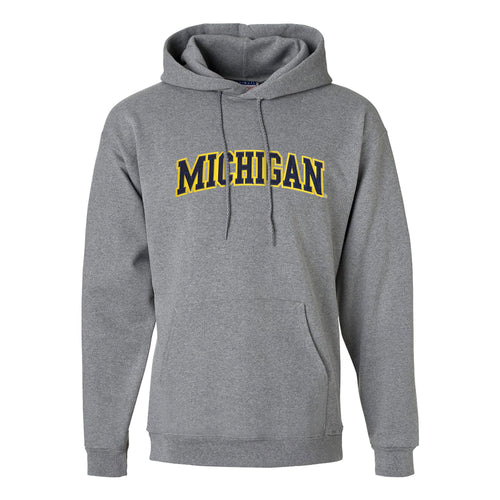 Tackle Twill Arch Hanes University of Michigan Hooded Sweatshirt - Oxford