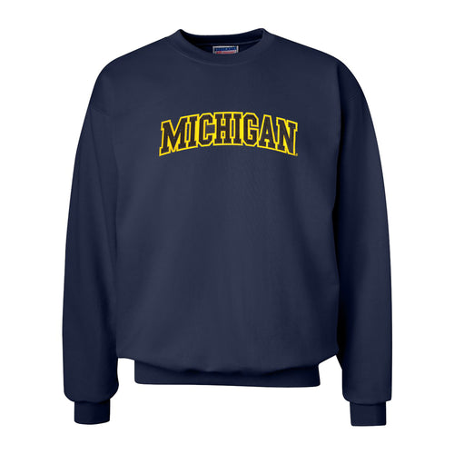 Tackle Twill Arch Hanes University of Michigan Crewneck Sweatshirt - Navy