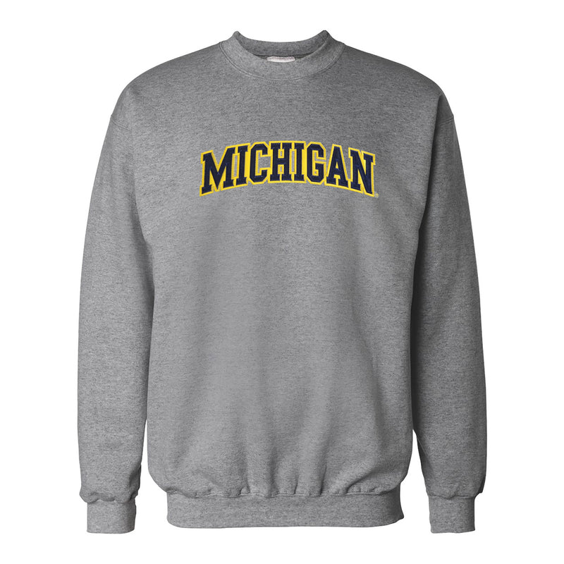 Tackle Twill Hanes University of Michigan Crewneck Sweatshirt - Oxford