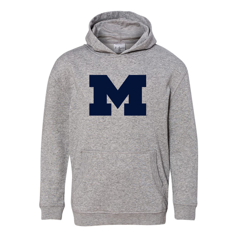 Block M Youth Glitter Hoodie - Oxford/Silver