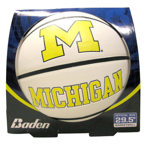 Baden Michigan Autograph Basketball BS7A - White