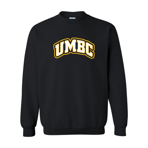 University of Maryland Baltimore County Retrievers Basic Block Crewneck Sweatshirt - Black