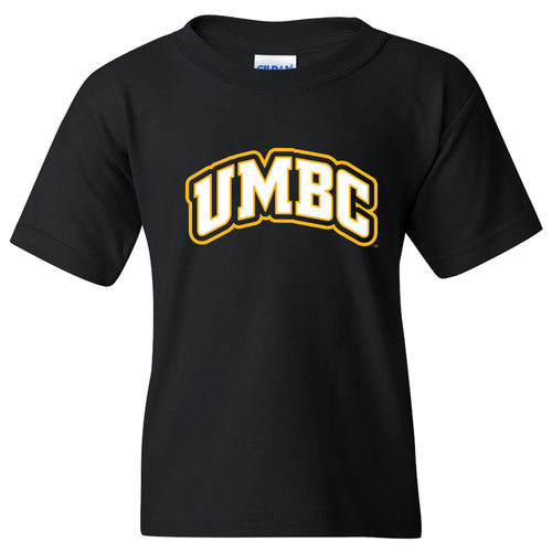 University of Maryland Baltimore County Retrievers Basic Block Short Sleeve Youth T Shirt - Black