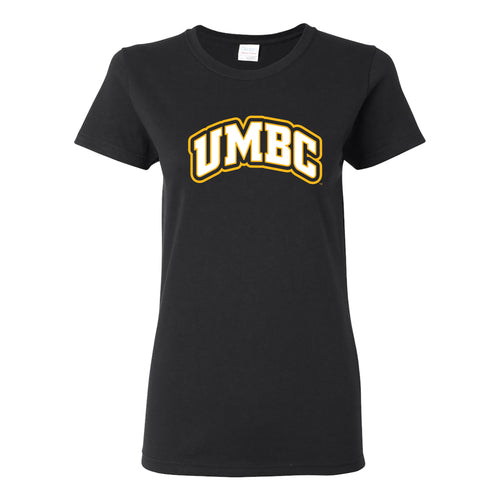 UMBC Basic Block Womens T Shirt - Black