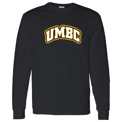 University of Maryland Baltimore County Retrievers Basic Block Long Sleeve T-Shirt - Black