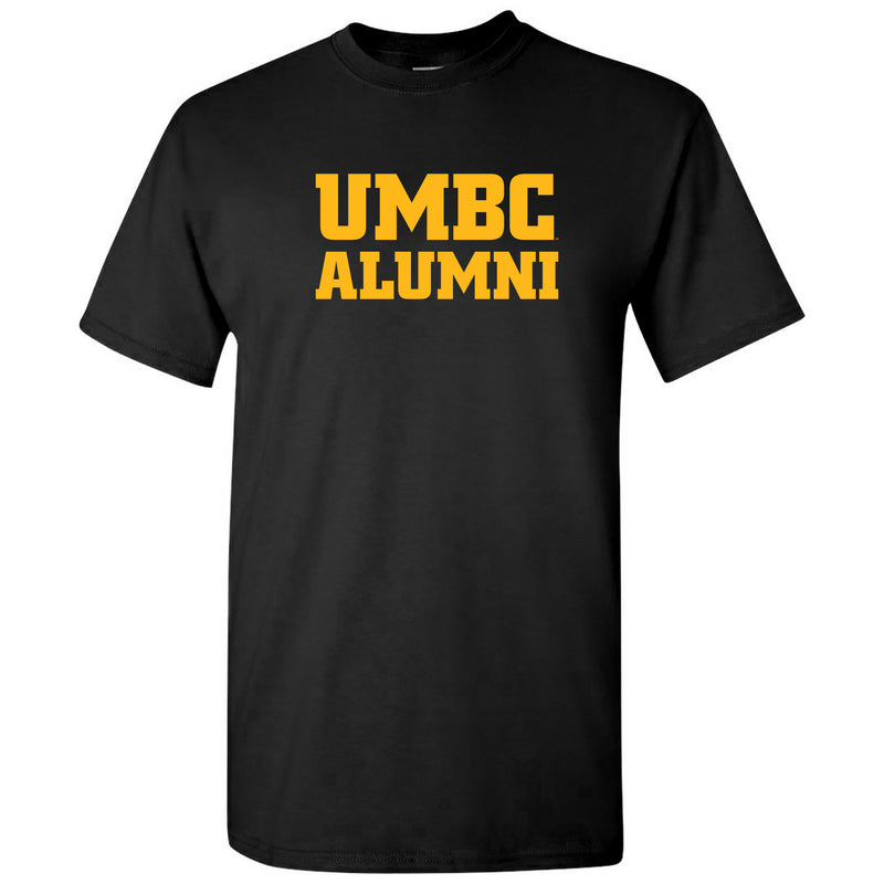 UMBC Alumni Block T Shirt - Black