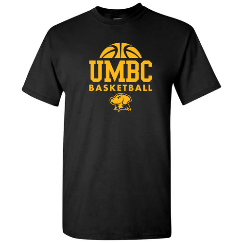 University of Maryland Baltimore County Retrievers Basketball Hype Short Sleeve T Shirt - Black