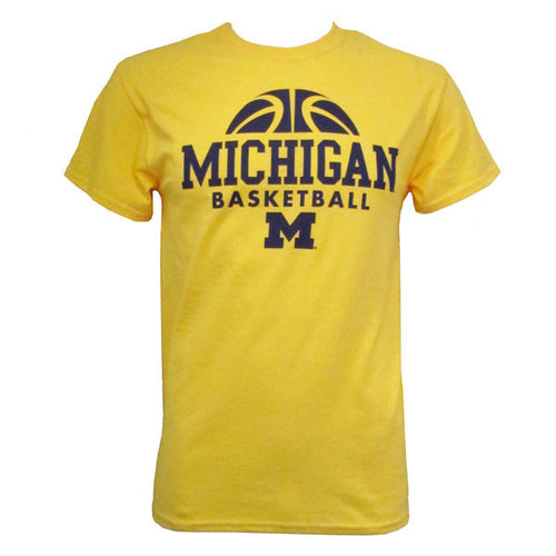 Michigan Bball Hype Tee - Daisy