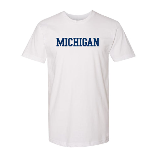 Basic Block University of Michigan American Apparel T Shirt - White