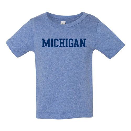 Basic Block University of Michigan Canvas Infant Tee - Blue Triblend